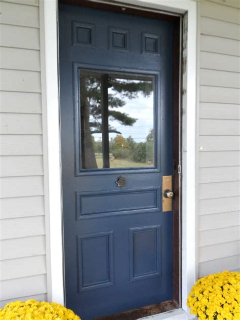 navy door paint both sides of your front door for a pop of color navy blue interior
