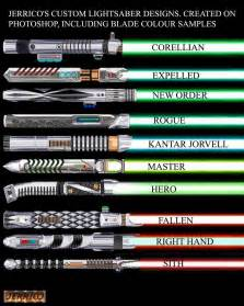 what do the different colors of lightsabers lightsaber montage 2 by corven55 on deviantart