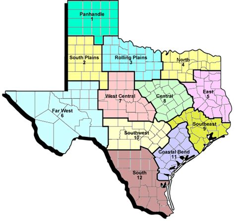 county map of central texas county programs teaching research extension and service