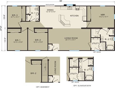 Builders Floor Plans Michigan Modular Homes 3673 Prices Floor Plans