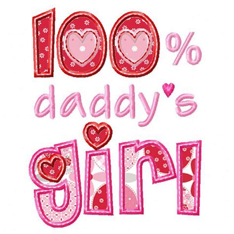 daddy s 100 daddy s girl applique