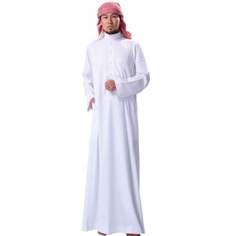 arab thobe pattern muslim men solid long sleeve loose jubba thobes saudi arab