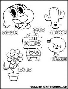 Gumball cartoon network colouring pages page 2 gumball friends