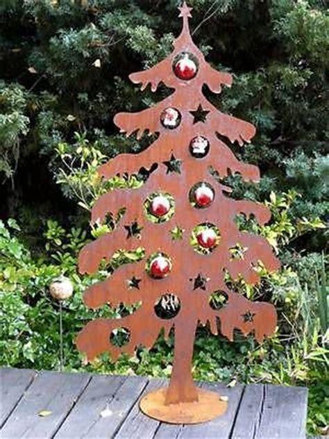 weihnachtsbaum metall edelrost rost 120cm deko tanne