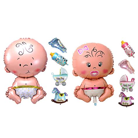 Balon Oke Baby Carriage Foil Balloon 5pcs baby shower foil balloon baby shower boys decorations foil balloons