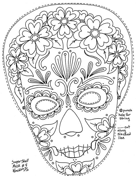 Women Skull Coloring Pages Coloring Pages Girly Sugar Skull Coloring Pages