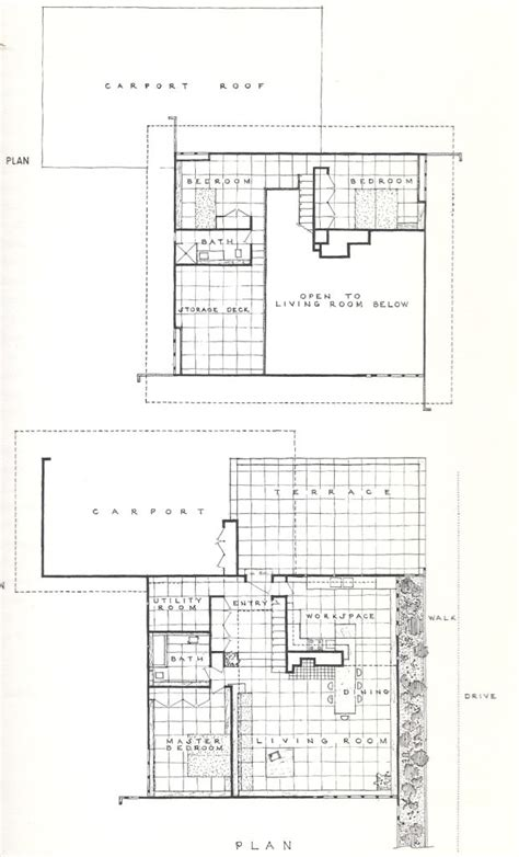 usonian floor plans usonian housing project 1957 usonian architecture and