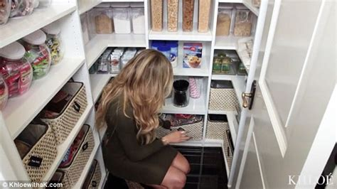 khloe kardashian organization khloe kardashian shows off pantry stuffed with cereals