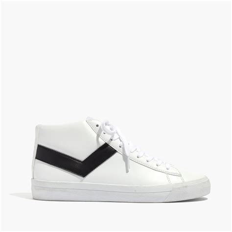 white high top sneakers for madewell pony 174 topstar hi high top sneakers in white lyst