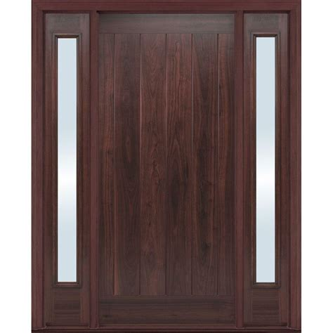 Exterior Doors Fiberglass Masonite 36 In X 80 In Avantguard Flagstaff Finished Smooth Fiberglass Prehung Front Door With