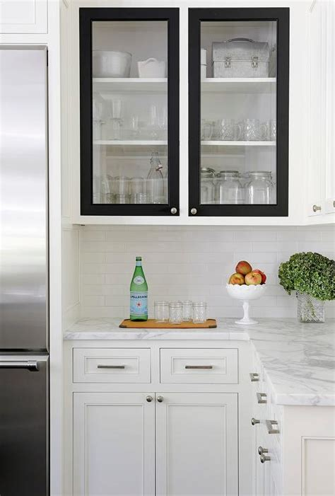 black and white kitchen cabinets white kitchen cabinets with black doors transitional