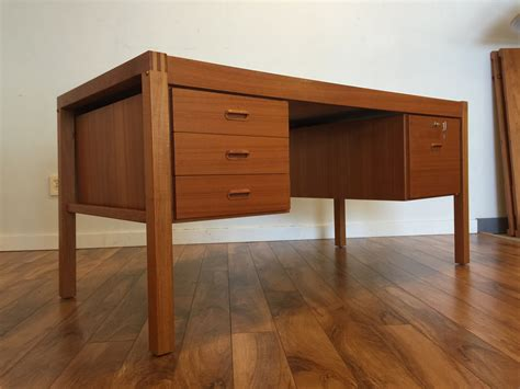 sold bent silberg teak desk modern to vintage