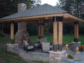 Outdoor Gazebo Plans With Fireplace - four inspiring outdoor living structures