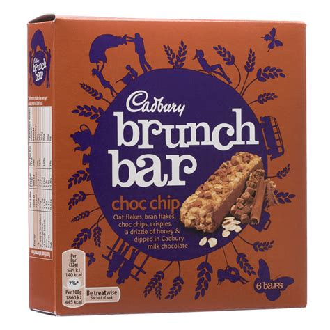 Cadbury Brunch Bar Choc Chip b m cadbury brunch bar choc chip 6pk 219965 b m