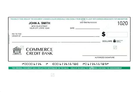 Business Check Template Blank Payment Voucher Banking Check On A White Background Excel Business Business Check Template Excel