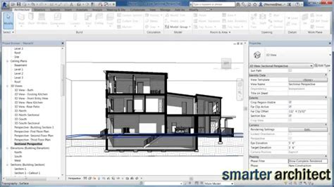 how to prepare for ac section revit tutorial creating a section presentation drawing in