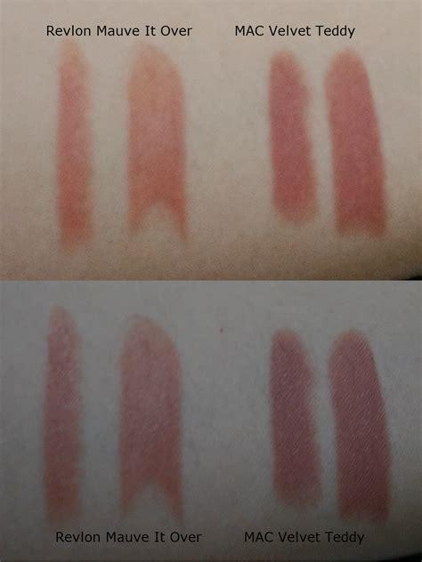 Lipstik Mac Matte Velvet Teddy lipstick dupe alert mac velvet teddy vs revlon matte in
