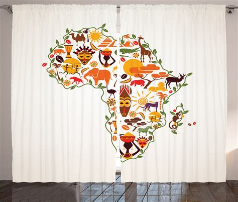 african home decor uk african curtains 2 panels set travel map ethnic arts home