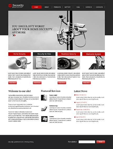 Template 39271 Security Company Html5 Js Animated Website Template Html5 Animated Website Templates