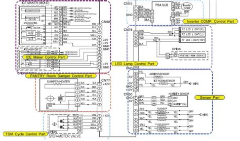 samsung refrigerator electrical schematic for
