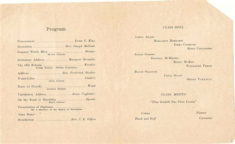 sagamore high school play program 1932 history of