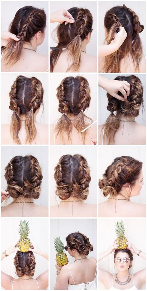 plaiting hair using chopsticks 28 ridiculously cool double bun hairstyles you need to try