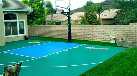backyard courts snapsports 174 southern california home outdoor court