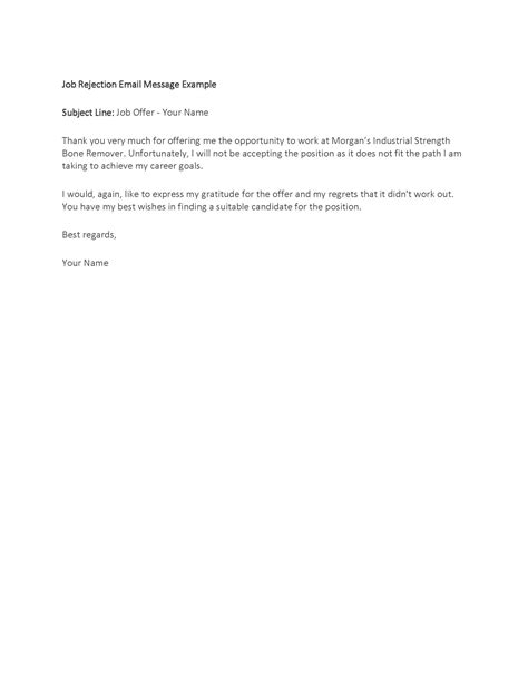 Rejection Letter Human Resources Thank You Farewell Letter Images Letter Format Exles