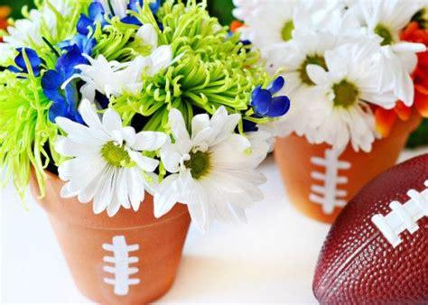 wedding flower pot centerpiece ideas 25 best ideas about football centerpieces on