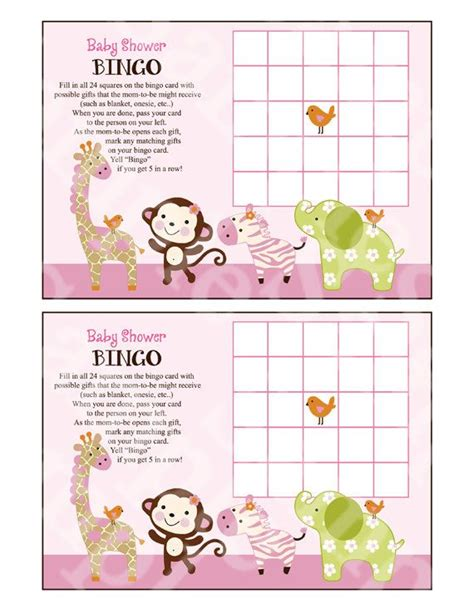 printable jungle animal bingo 350 best images about bingo on pinterest baby shower