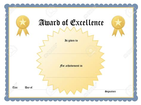 blue printable award certificate template