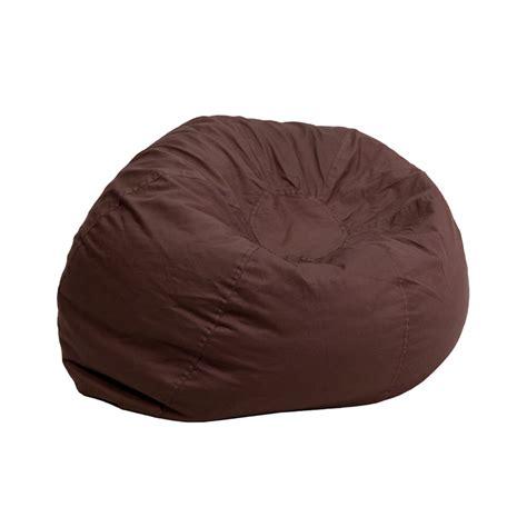 big brown bean bag flash furniture small solid brown bean bag chair ebay