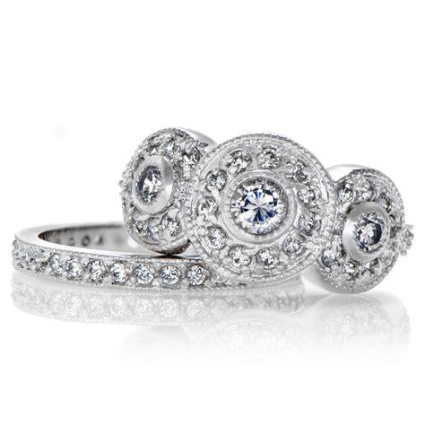vintage engagement wedding ring set vintage engagement