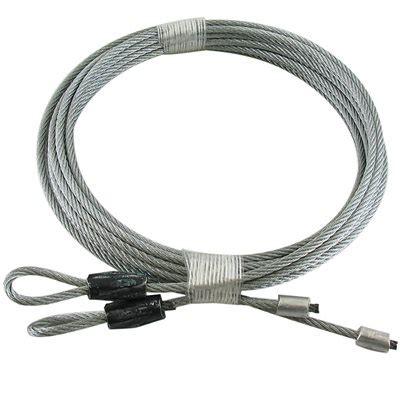 Garage Door Lift Cable by 1 8 X 102 7x7 Gac Garage Door Torsion Lift Cables Black