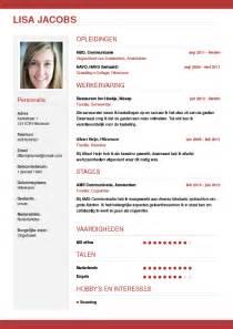 1 Curriculum Vitae Template by Cv Maken In 3 Stappen Je Curriculum Vitae Downloaden