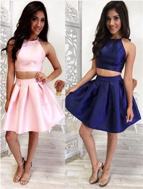 C Sale Halter Knit Dress Pink Navy Merah Dress Cewek prom dress homecoming dresses 2 prom dress pink prom dresses navy blue prom dress