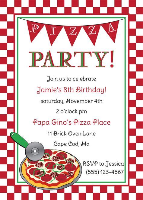 Free Pizza Party Invitation Templates Cloudinvitation Com Pizza Invitation Template