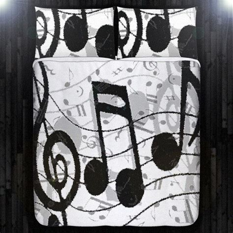 music note bedroom treble clef note sheet music duvet cover bedding queen