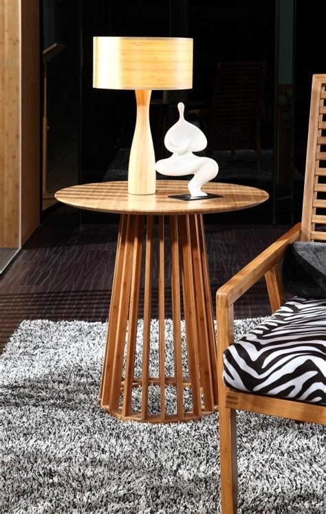 modern simple bamboo furniture glass dining table t c001