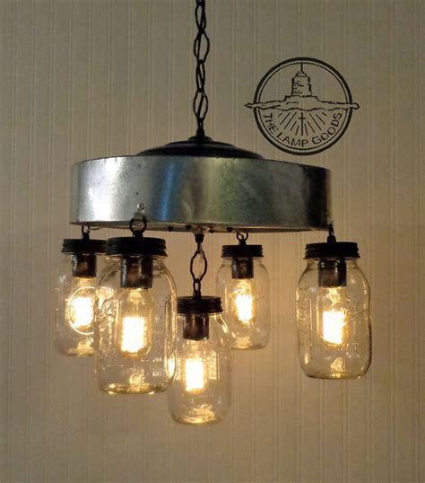 jar chandelier light fixture with farmhouse by lgoods