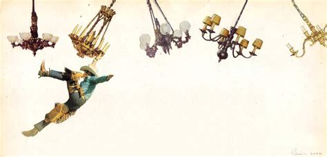 swing from chandeliers javier pinon art collage
