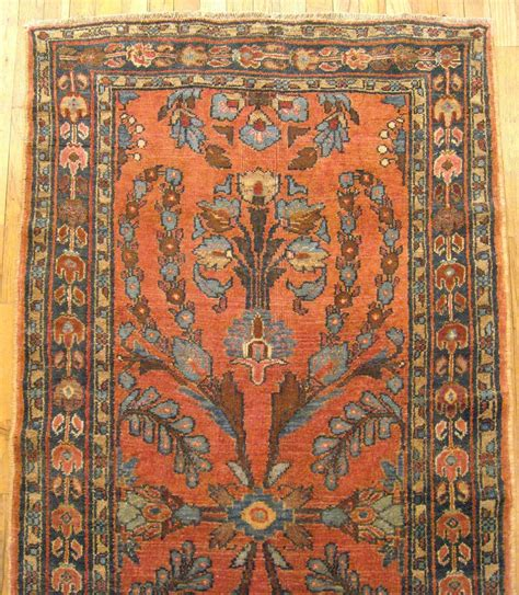 Small Runner Rug Antique Hamadan Rug Small Runner Size Floral With Tones For Sale At 1stdibs