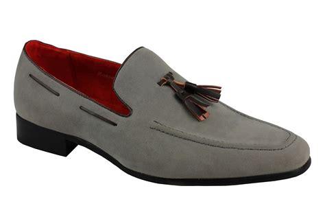 mens mod loafers men s smart suede leather tassel heel loafer slip on