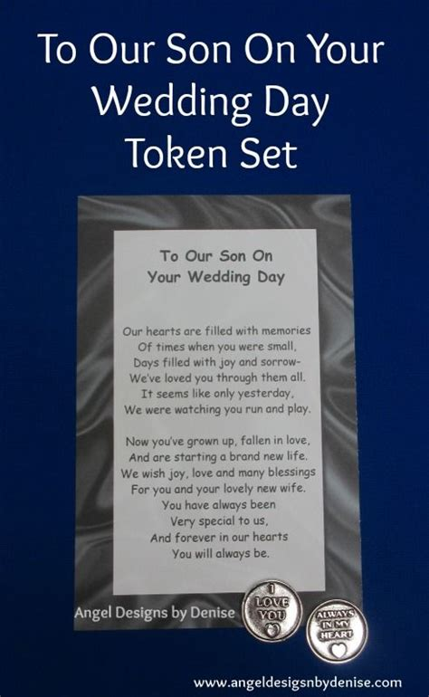 No At Your Wedding Our One 4 by To Our On Your Wedding Day Token Set This Poem With A