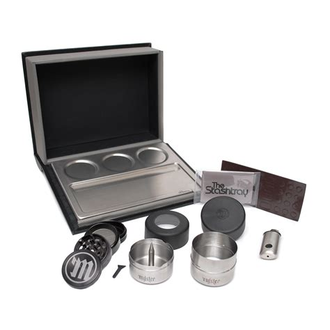 Mokha Stainless Box Coffee Powder Tray Box As Kopi 150mm the stashtray all in one magnetic rolling tray book box fogpen touch of modern