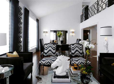 Living Room Fabrics by Wearstler Flair Noir Living Room