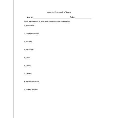 printables economics worksheets ronleyba worksheets