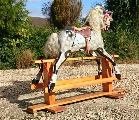 Handmade Rocking Horses Uk - handmade painted large rocking by collinson of