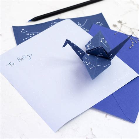 Origami With Lined Paper - stariami origami letter writing set by newton and the