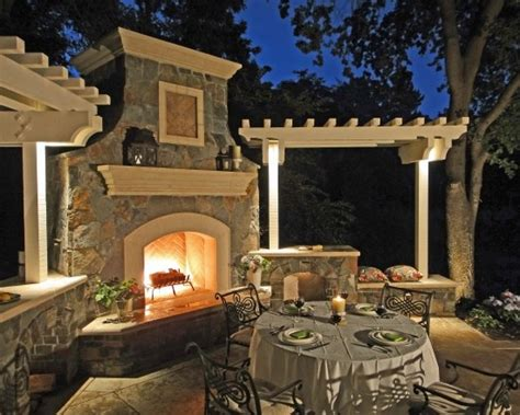 outdoor fireplace and pergola mi casa